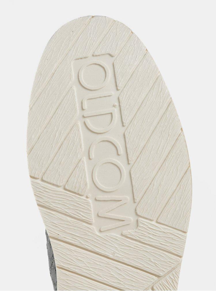 Šedé pánské slip on s koženými detaily Oldcom Summer