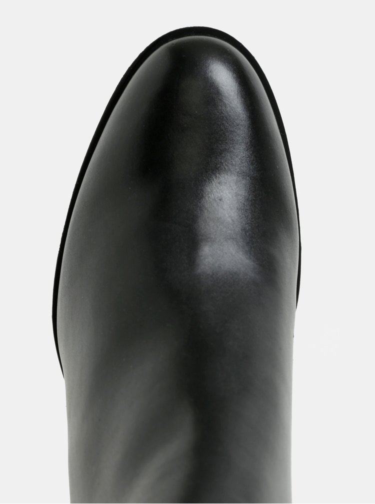 Botine negre cu toc inalt Geox