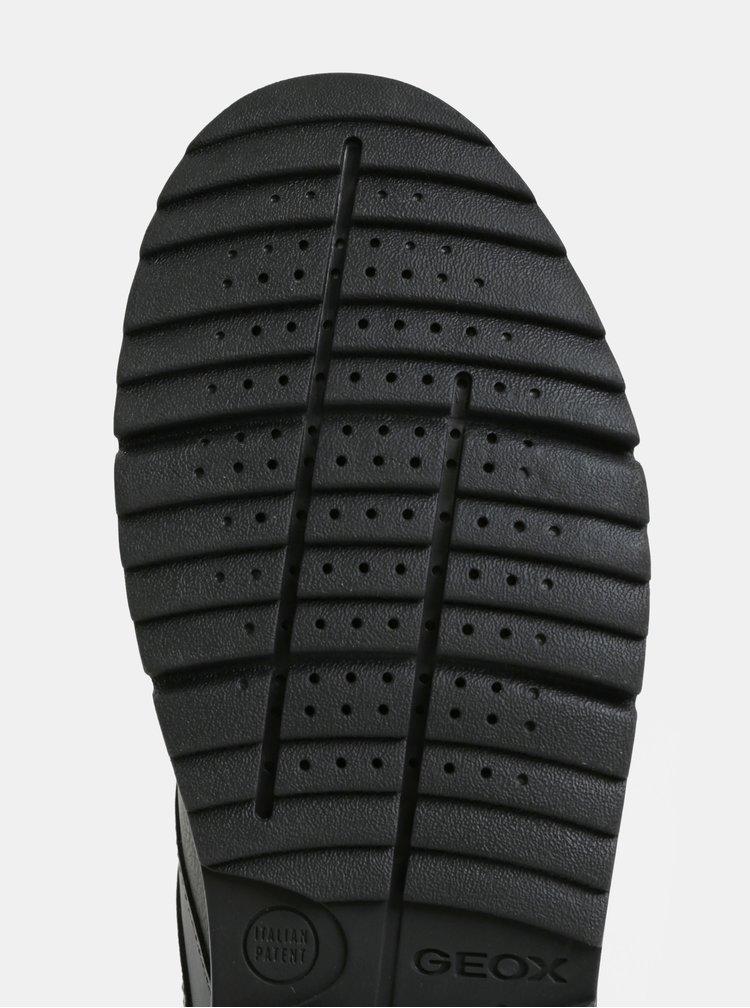 Černé pánské tenisky se semišovými detaily Geox