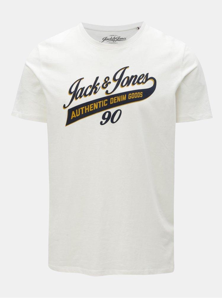 Bílé tričko s potiskem Jack & Jones Logo Tee