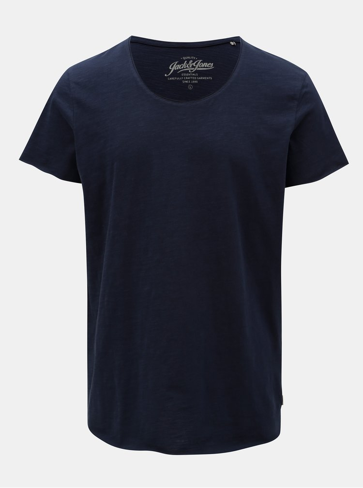 Tricou albastru inchis Jack & Jones Bas