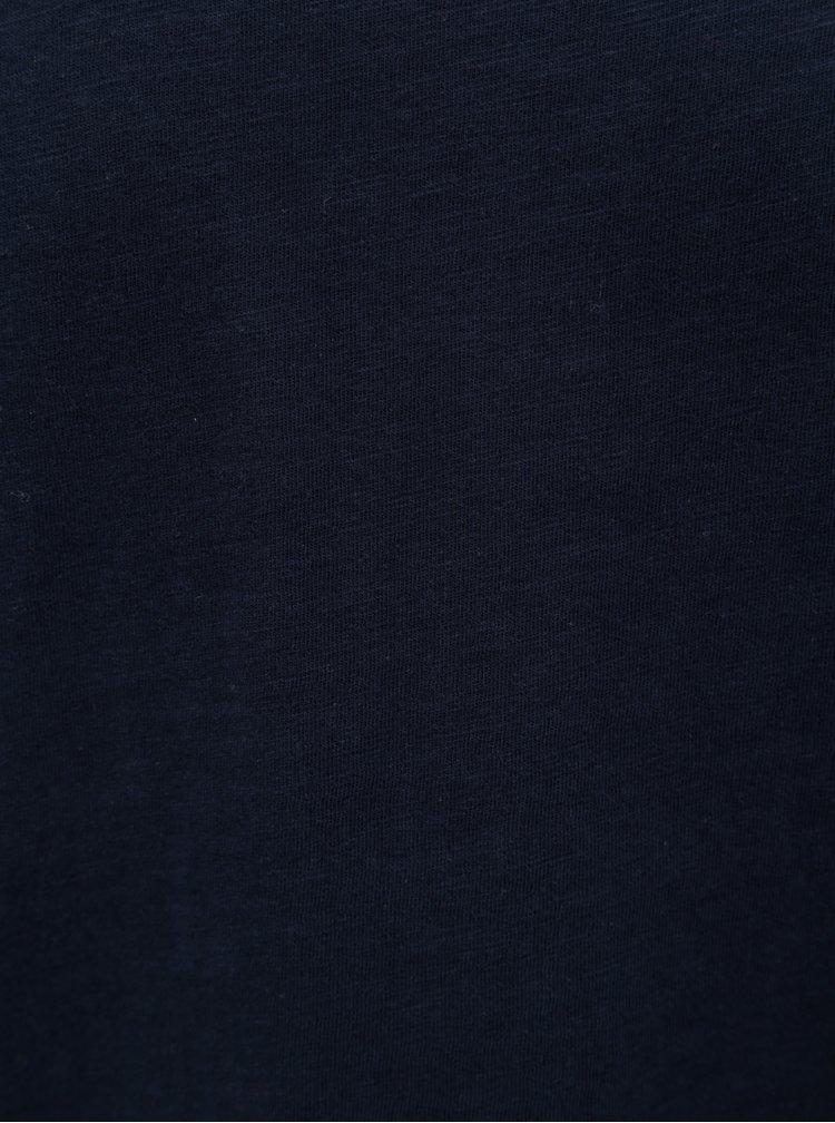 Tmavě modré tričko Jack & Jones Bas
