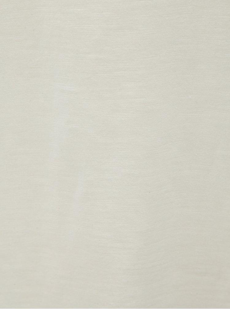Krémové tričko Jack & Jones Bas