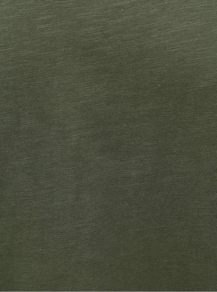 Khaki tričko Jack & Jones Bas