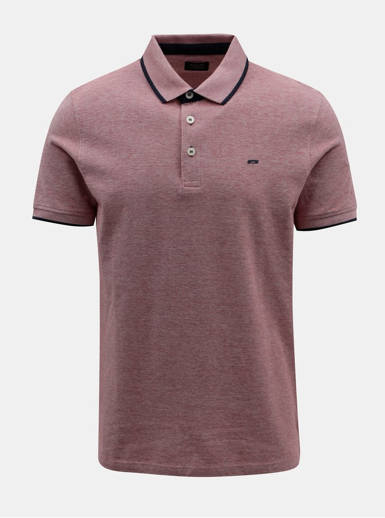 Červené polo triko Jack & Jones