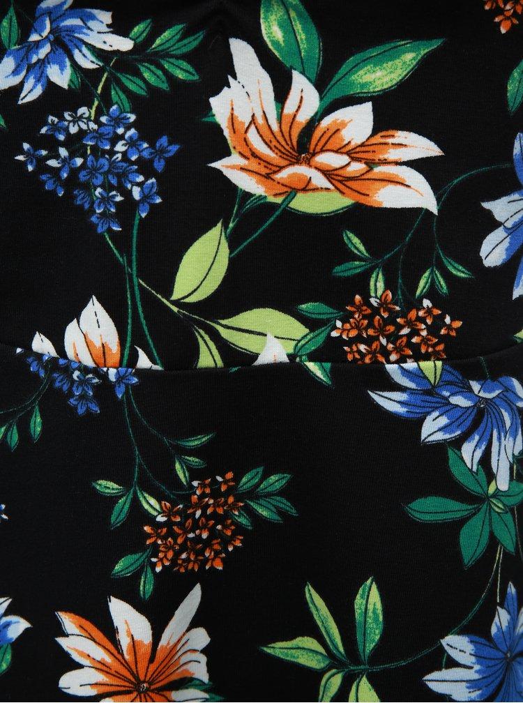 Černé květované šaty Dorothy Perkins Petite