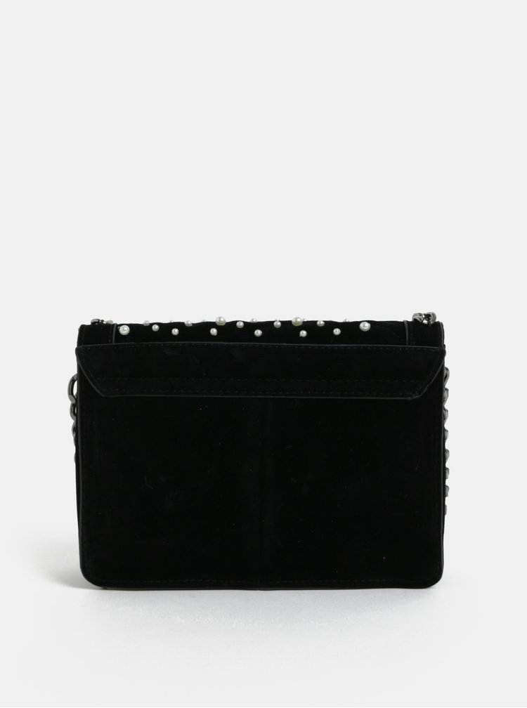 Černá semišová kabelka Pieces Jael