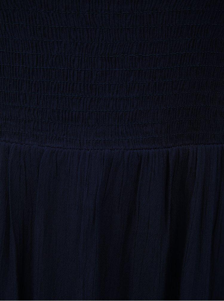 Tmavě modré midišaty s odhalenými rameny Dorothy Perkins