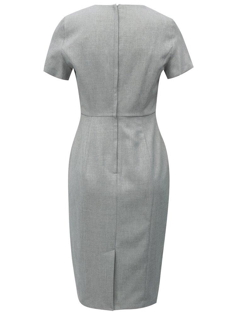 Šedé pouzdrové šaty Dorothy Perkins