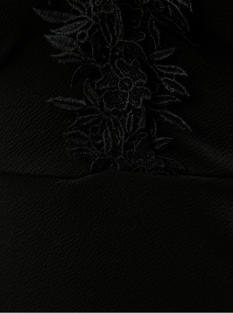 Černé šaty s krajkovými detaily Miss Selfridge Petites