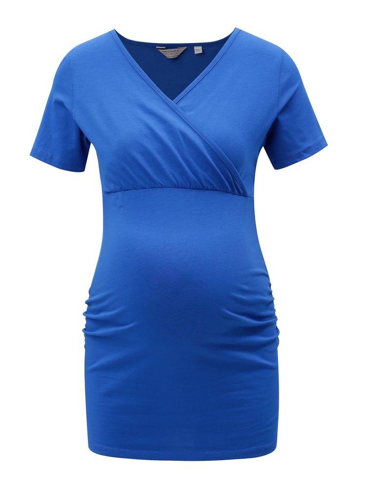 Modré těhotenské tričko Dorothy Perkins Maternity
