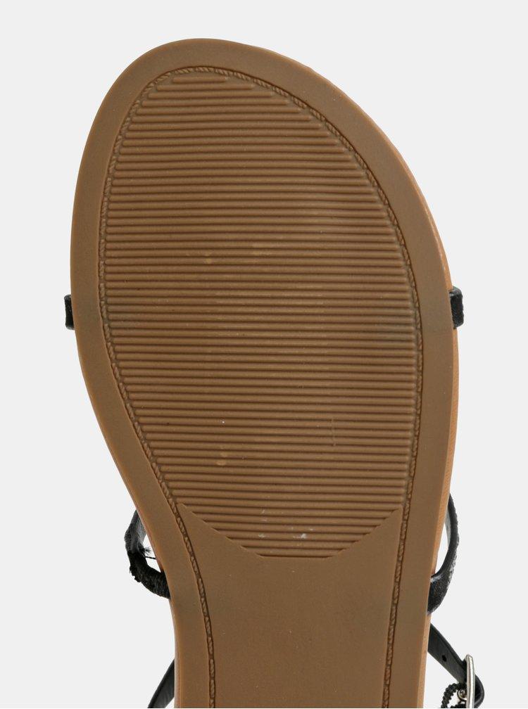 Černé sandály s detaily ve stříbrné barvě Dorothy Perkins