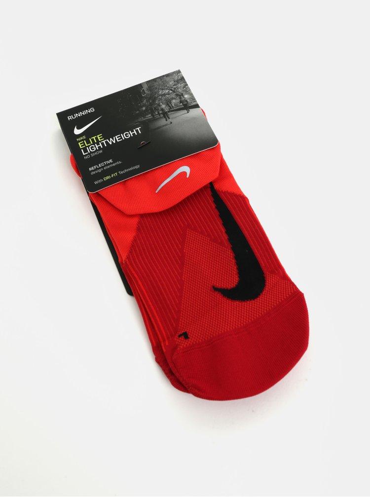 Červené unisex kotníkové funkční ponožky Nike Elite Lightweight