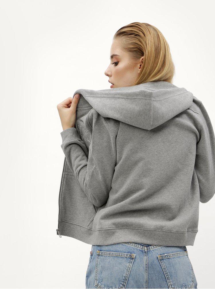 Šedá dámská mikina Calvin Klein Jeans