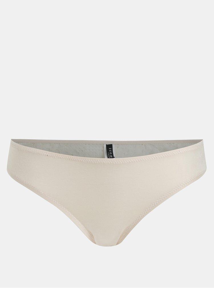 Béžové krajkové kalhotky ICÔNE