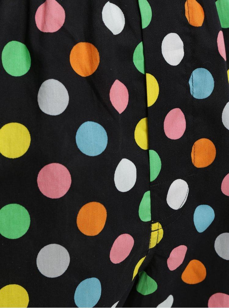 Černé puntíkované trenýrky Happy Socks Big Dot