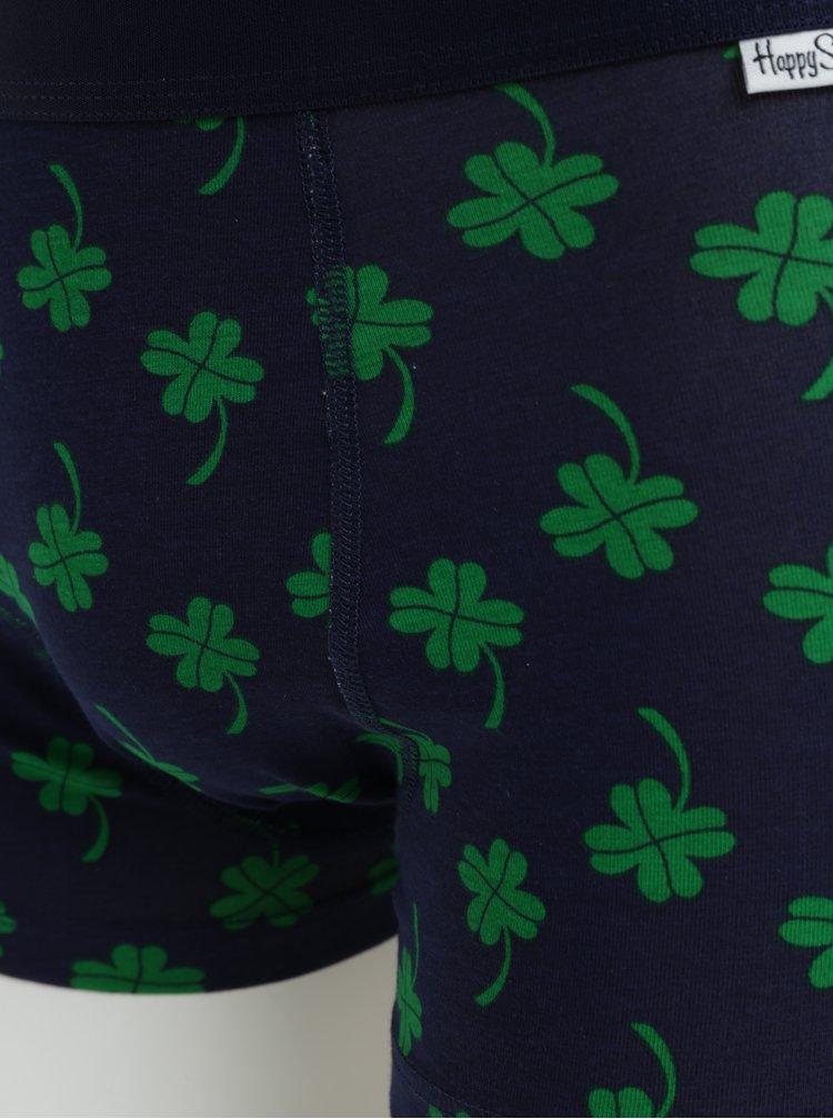 Modré vzorované boxerky Happy Socks Big Luck