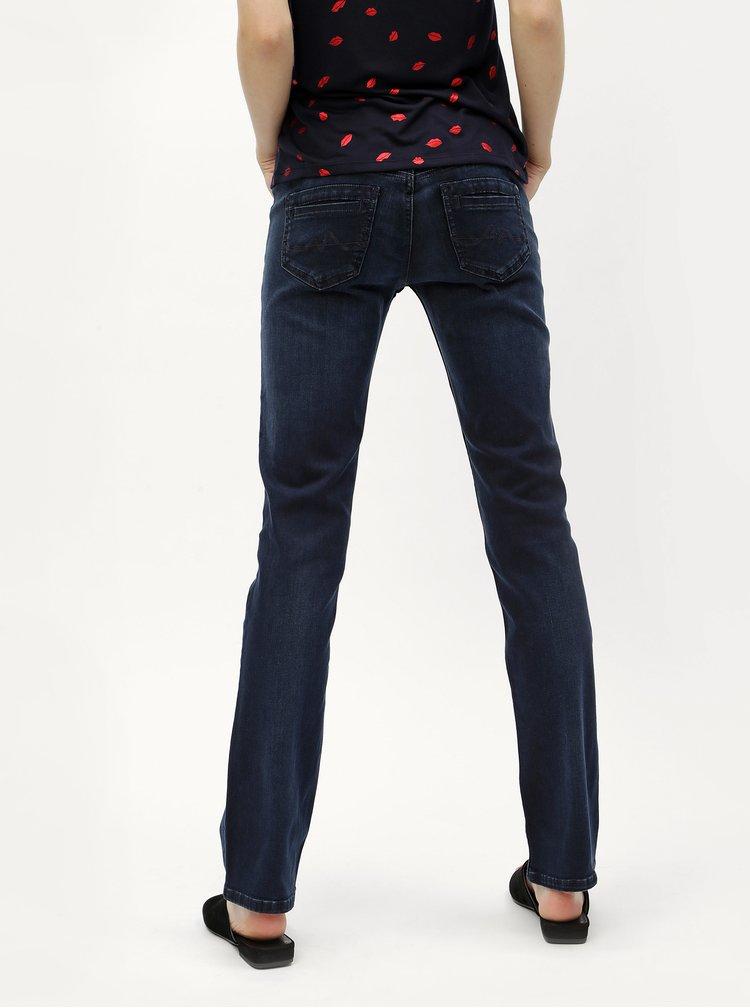 Tmavě modré dámské straight džíny Pepe Jeans