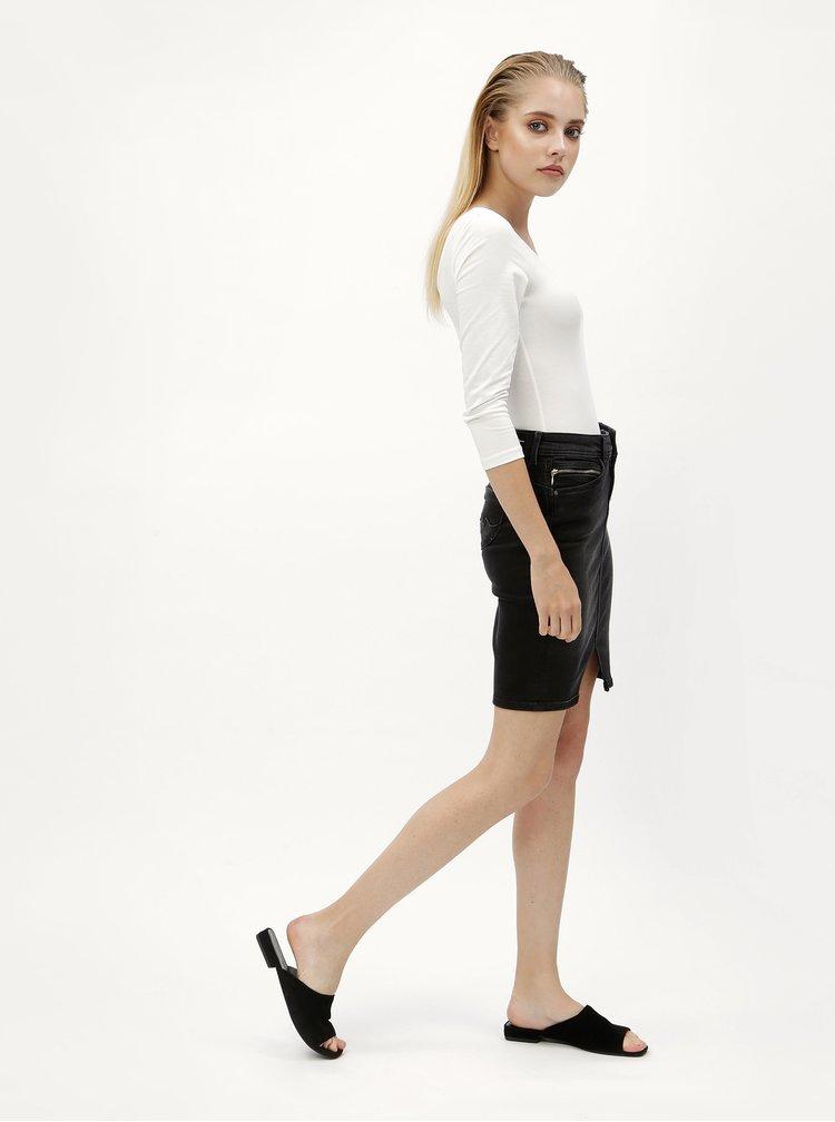 Čierna rifľová sukňa Pepe Jeans