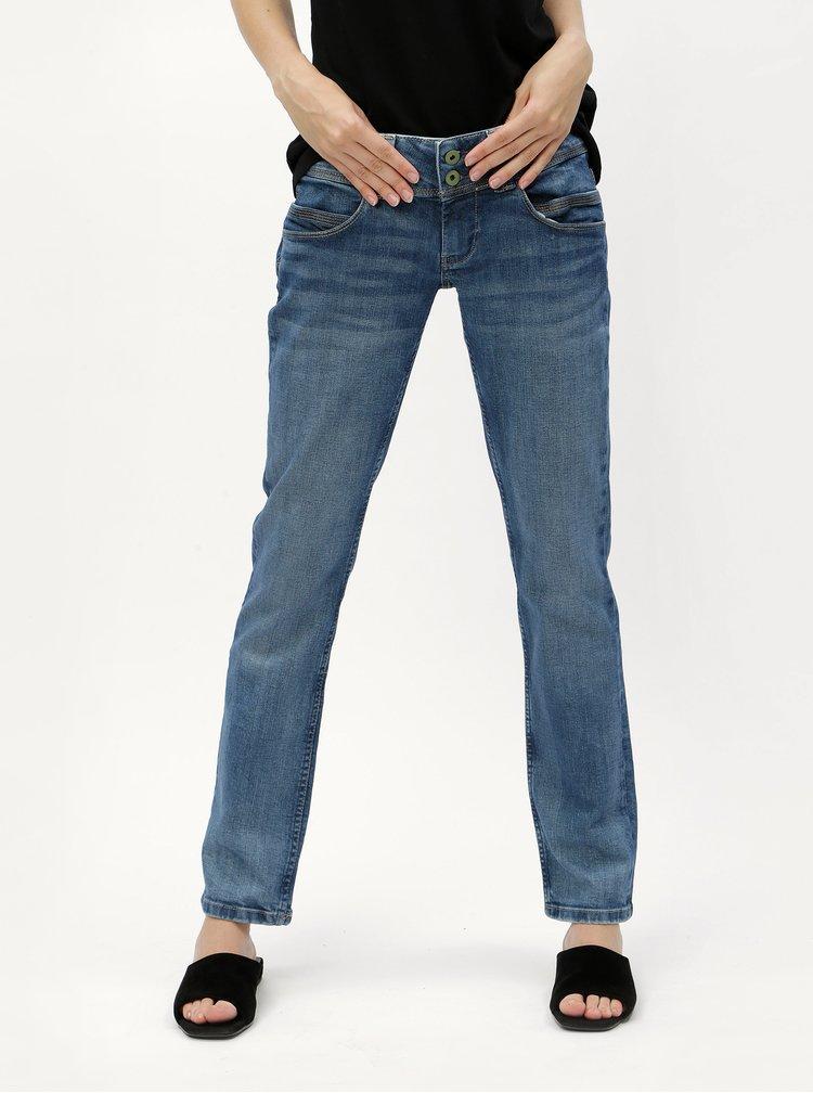 Modré straight džíny Pepe Jeans Venus