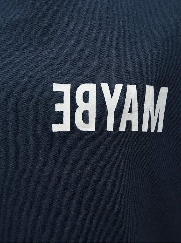 Tmavě modré klučičí tričko s potiskem LIMITED by name it