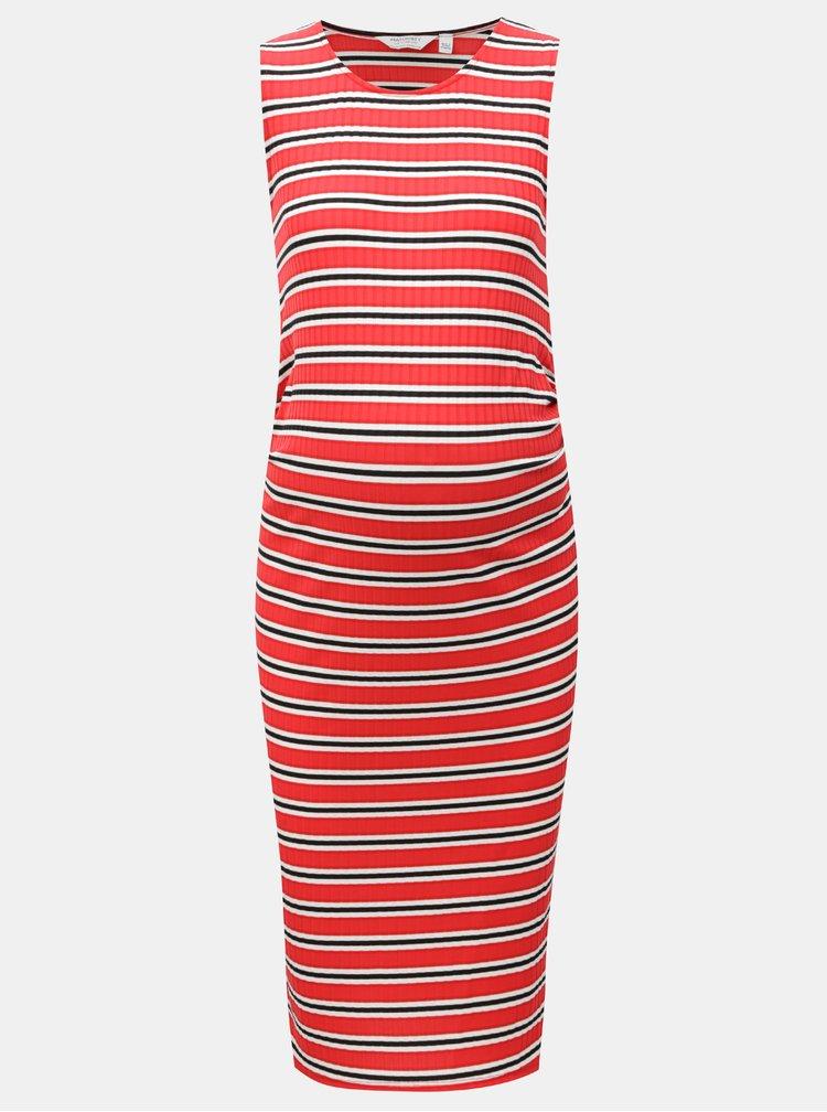 Bílo-červené pouzdrové těhotenské šaty Dorothy Perkins Maternity