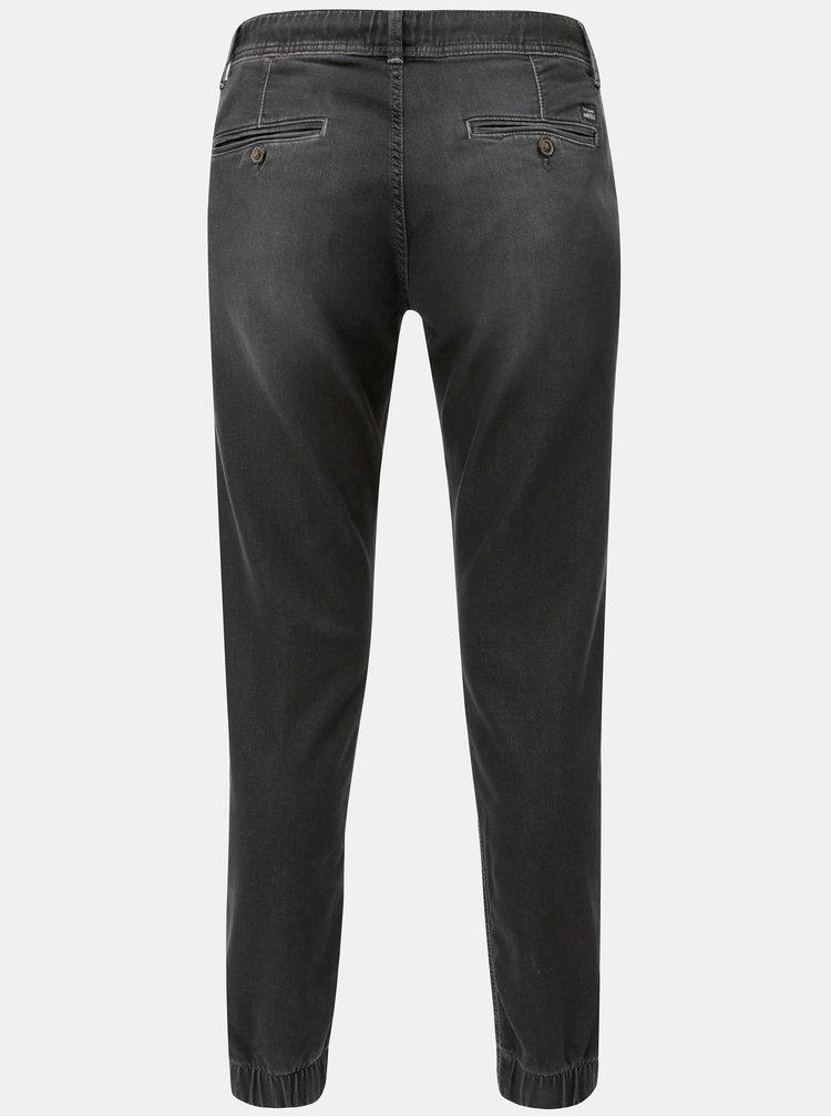 Černé pánské kalhoty s elastickým pasem Pepe Jeans