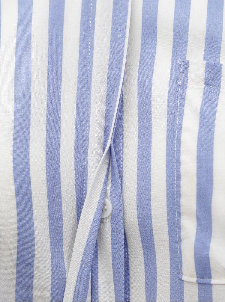 Bílo-modrá pruhovaná košile Zizzi