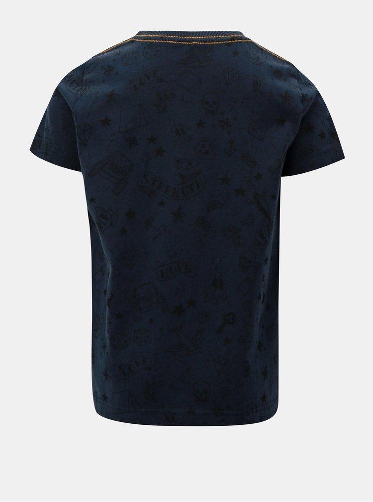 Modré klučičí tričko s potiskem Name it