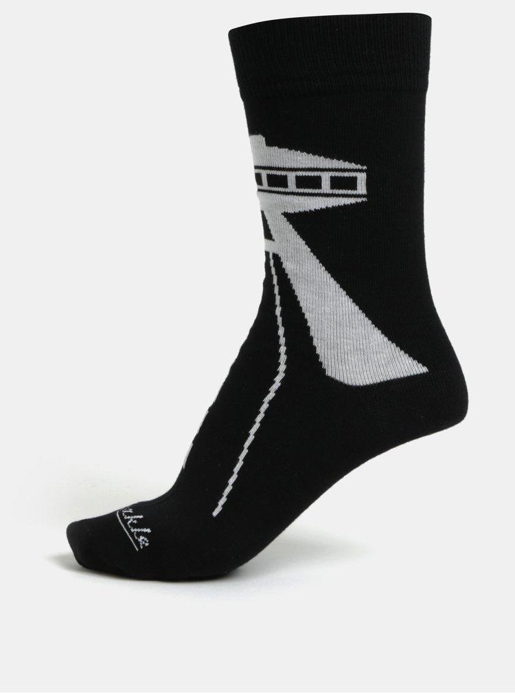 Černé unisex ponožky Fusakle Bratislava UFO