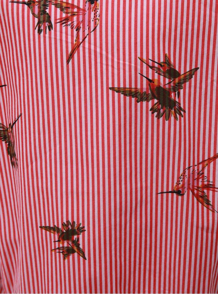 Růžovo-červené holčičí šaty Name it