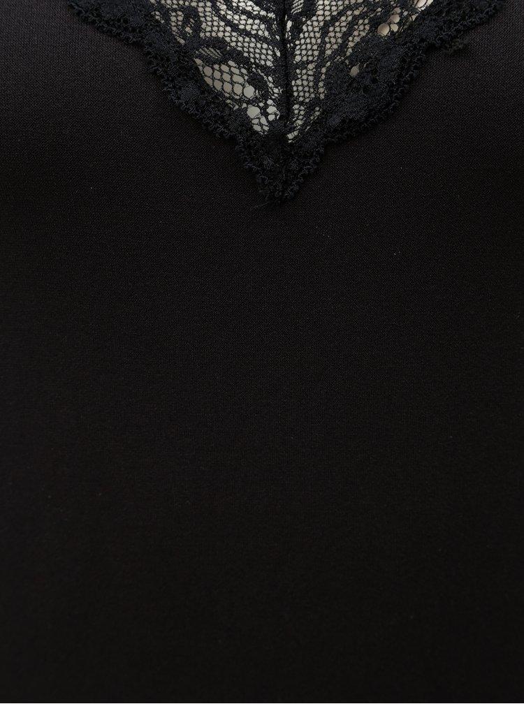 Černé body s krajkou Pieces Toloa