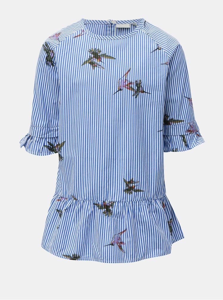 Bílo-modré holčičí šaty Name it