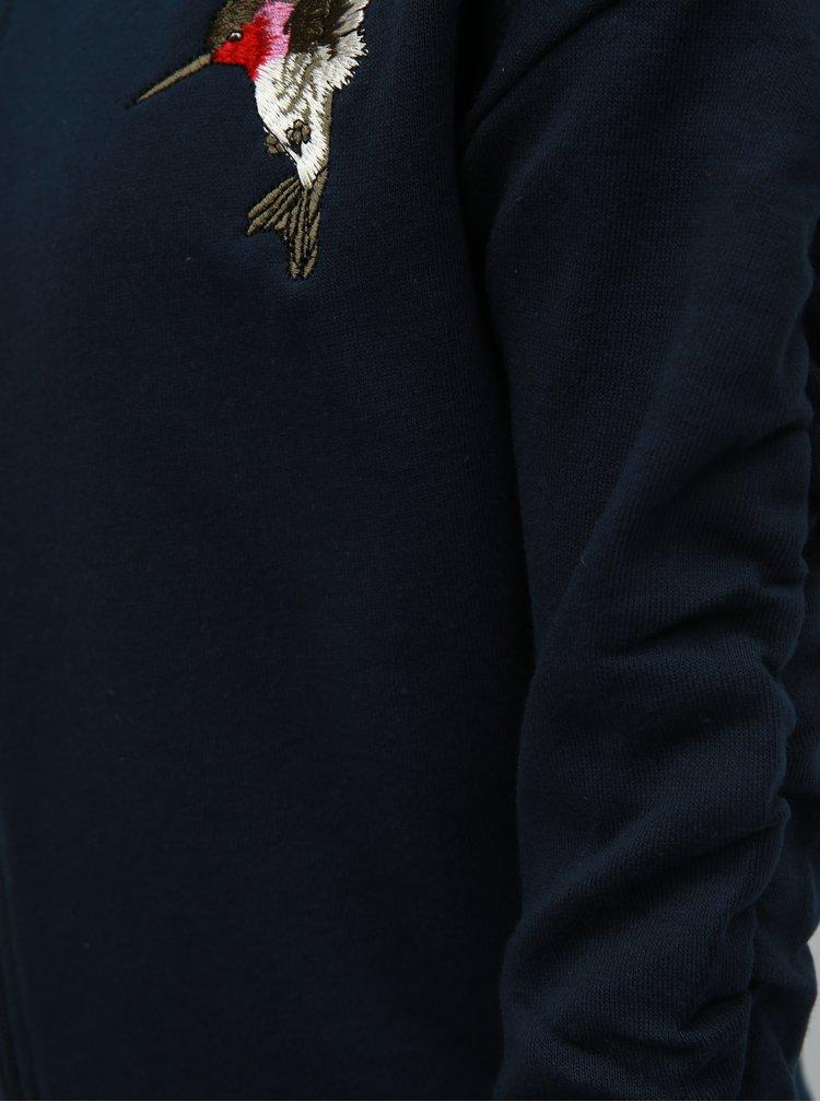 Modrá holčičí mikina s výšivkou Name it