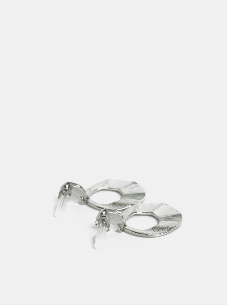 Kulaté visací náušnice ve stříbrné barvě Pieces Thit