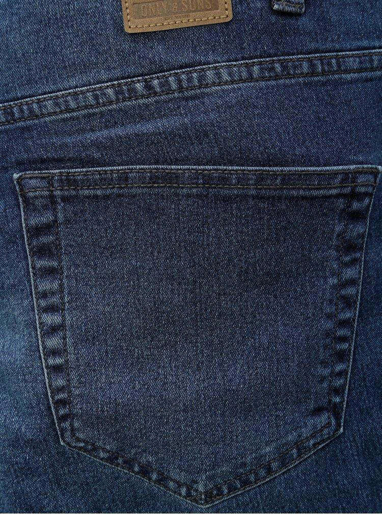 Modré slim fit džíny ONLY & SONS Spun