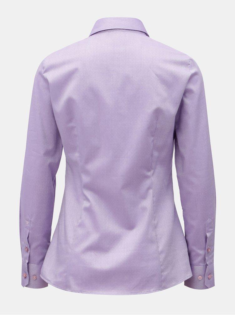 Fialová dámská košile s drobným vzorem VAVI
