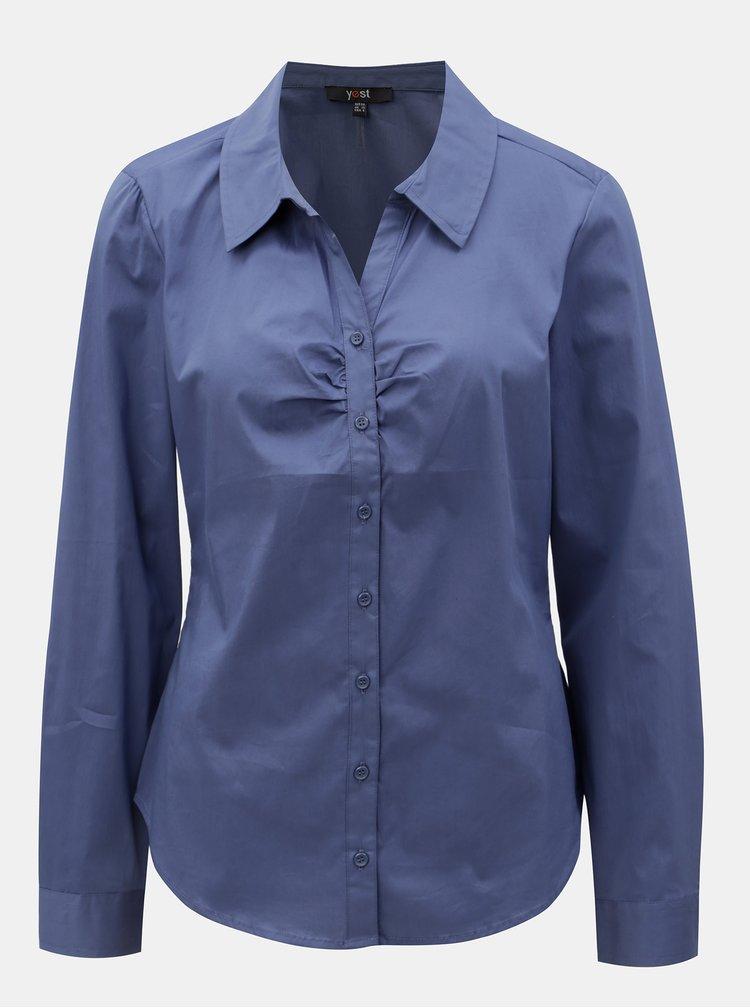 Modrá košile s dlouhým rukávem Yest