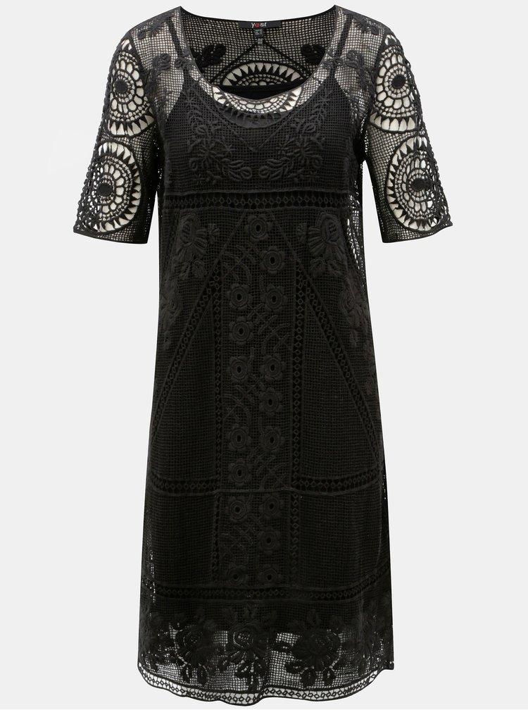 Černé krajkové šaty Yest