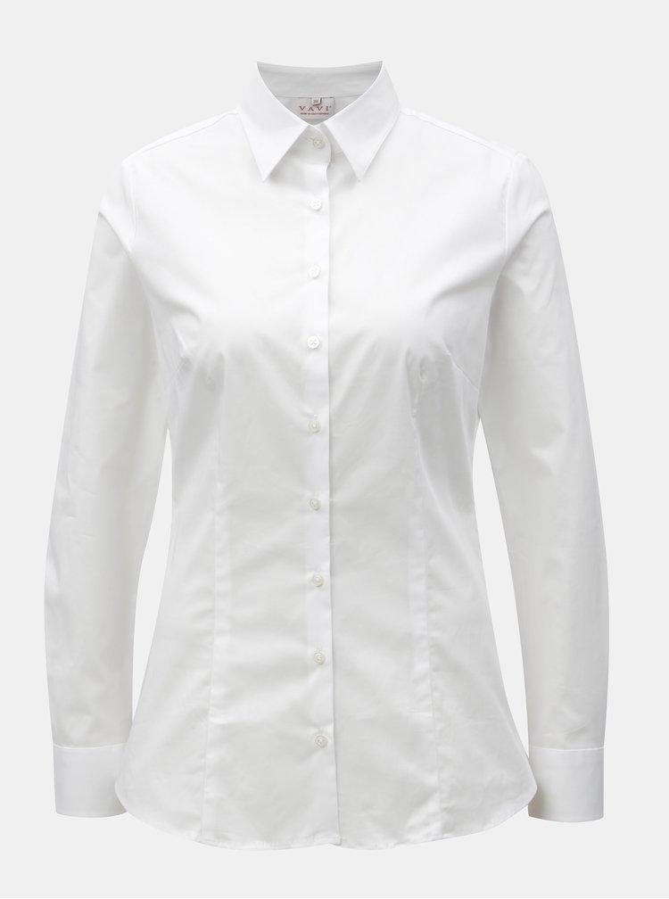 Bílá dámská košile projmutá v pase VAVI