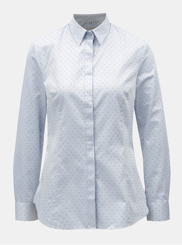 Světle modrá dámská košile s motivem křížků VAVI
