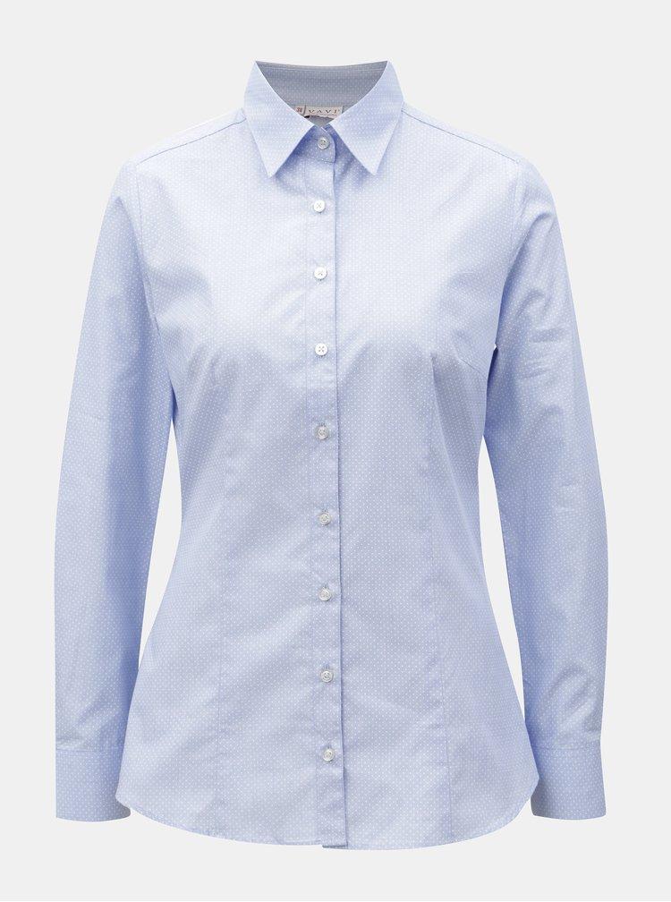 Světle modrá dámská puntíkovaná košile VAVI
