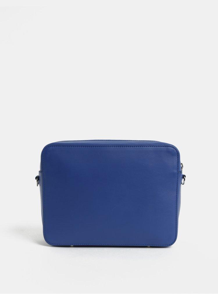Modrá kožená kabelka ELEGA