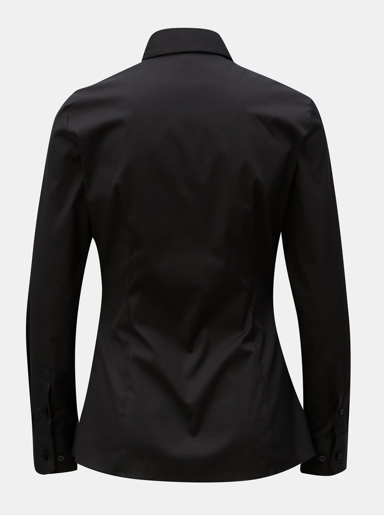 Černá dámská košile projmutá v pase VAVI