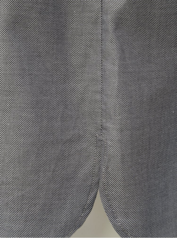 Šedé košilové šaty s páskem na zavazování VAVI