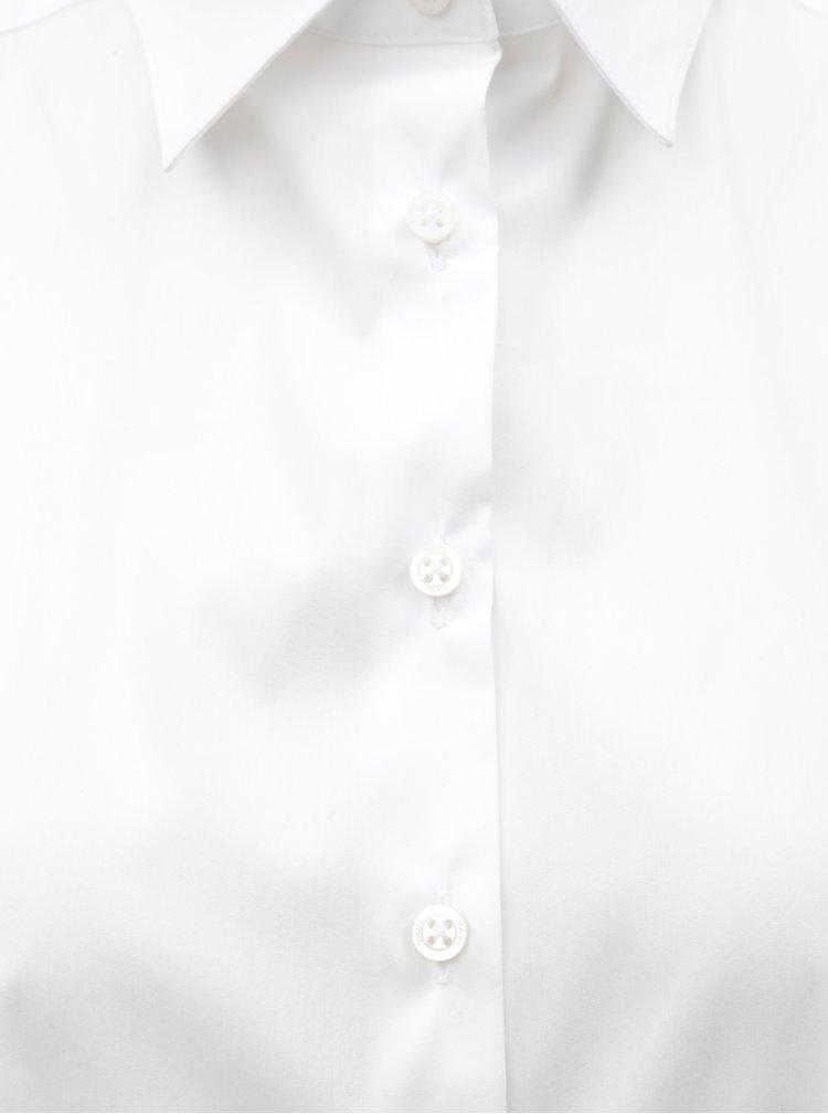 Bílé volné košilové šaty s dlouhým rukávem VAVI