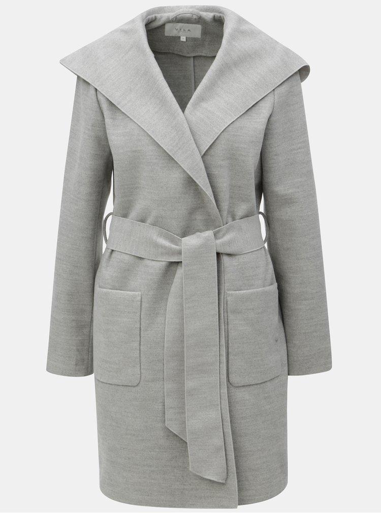 Šedý kabát s kapucí VILA Apple