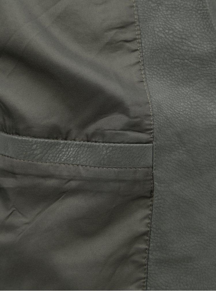 Zelený koženkový křivák VILA Masi