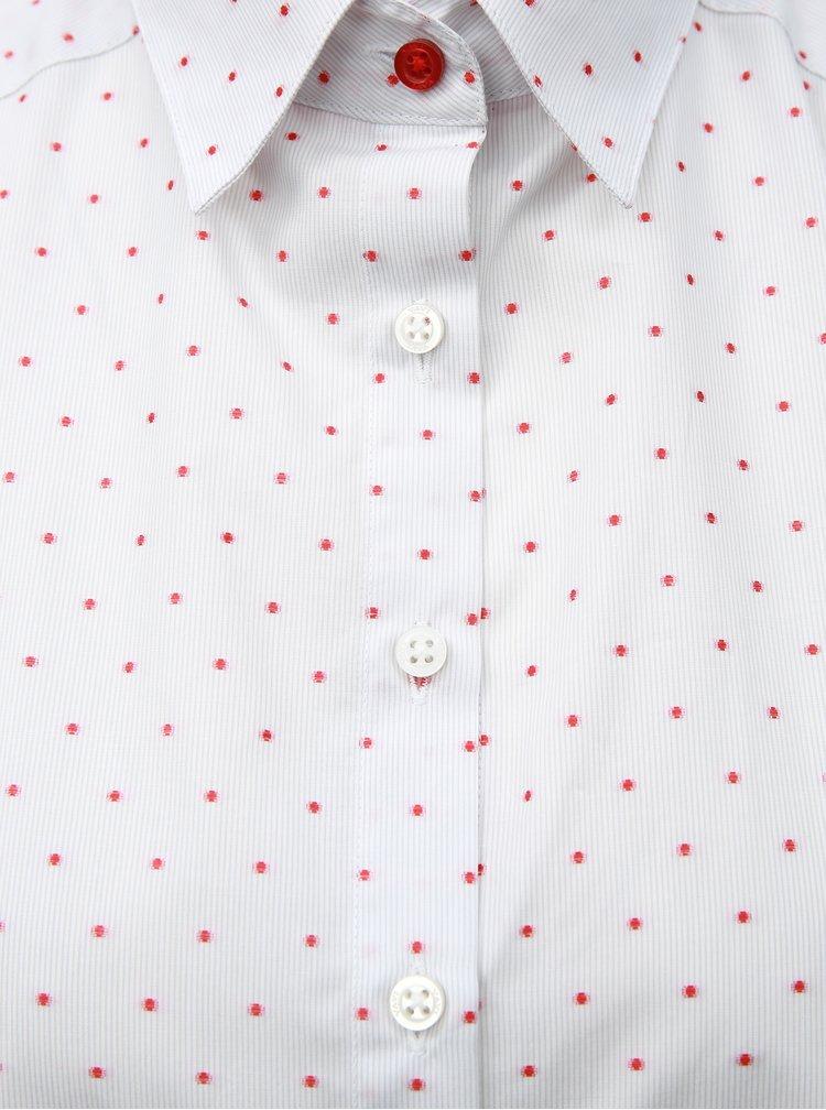 Světle šedá dámská volná košile s puntíkovaným vzorem VAVI