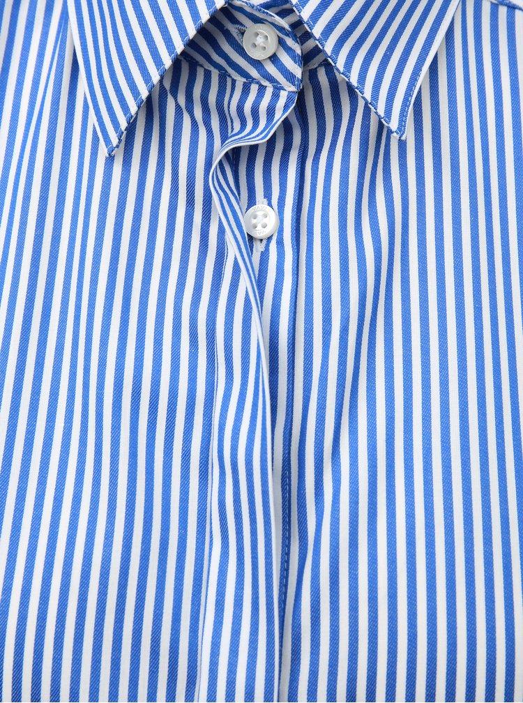 Bílo-modrá dámská volná pruhovaná košile VAVI